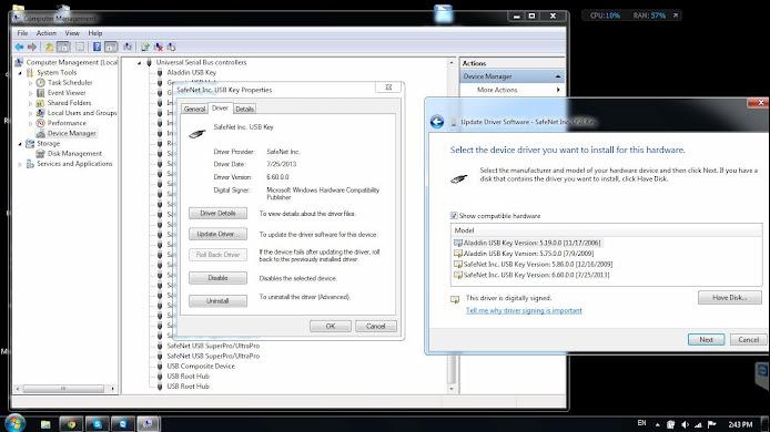 Sửa Lổi Driver USB Key Ảo Cho Các Chương Trình Thiết Kế 4