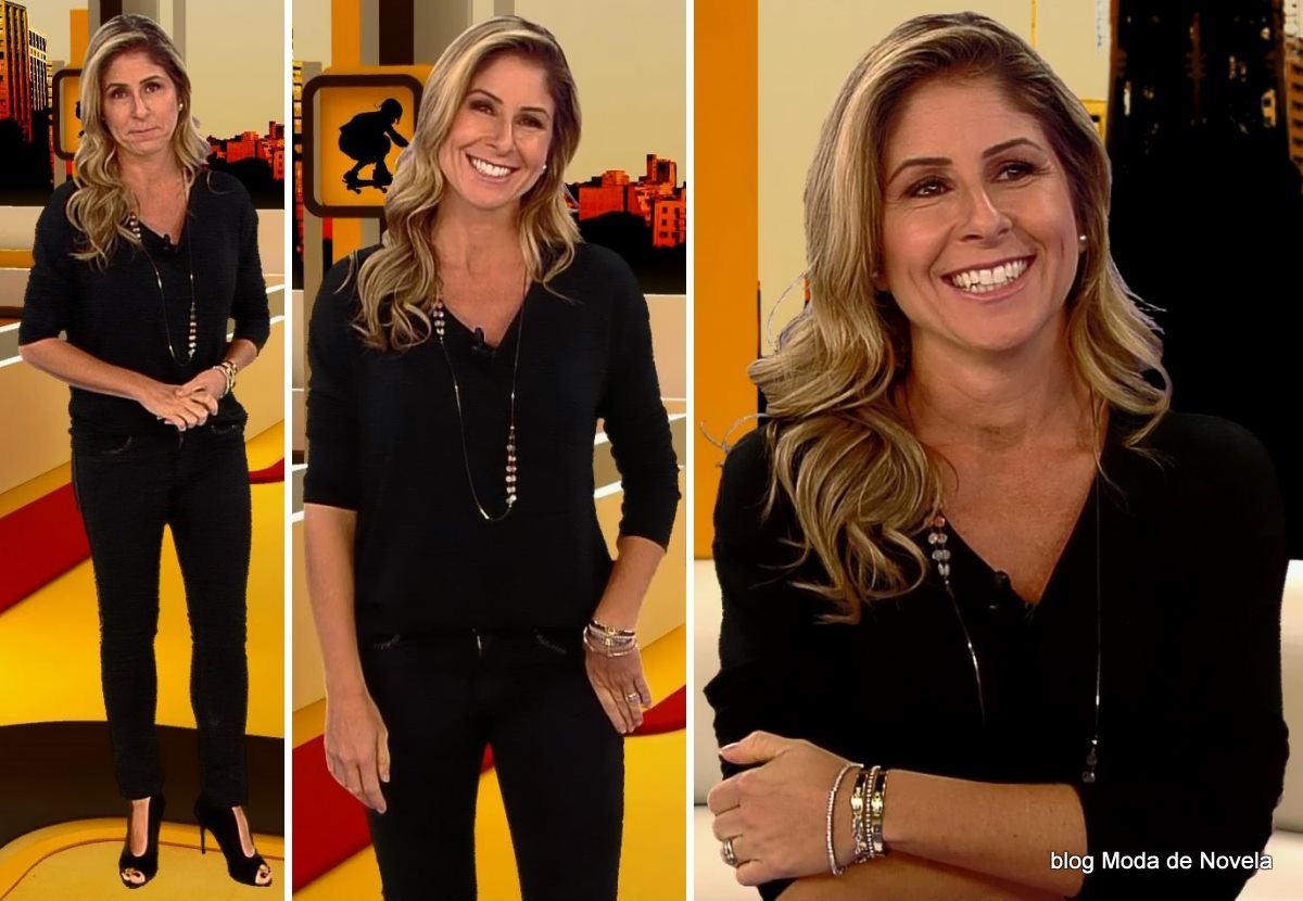 moda do programa Band Esporte Clube - look da Patrícia Maldonado dia 3 de maio