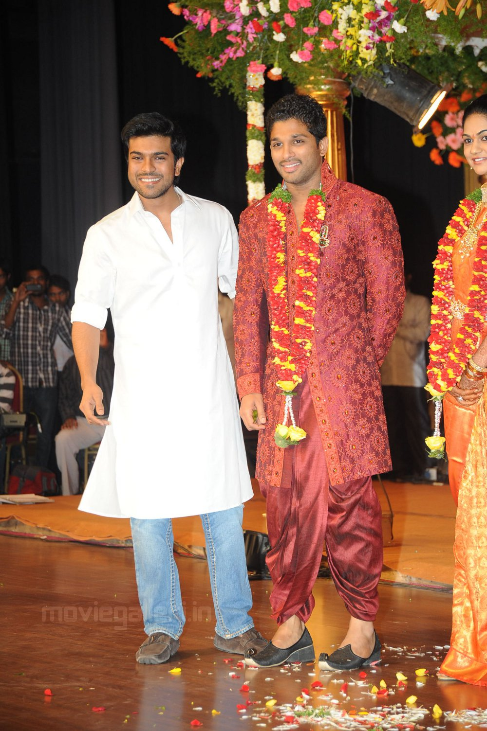 Ram Charan Teja Allu Arjun Reception Stills New Movie