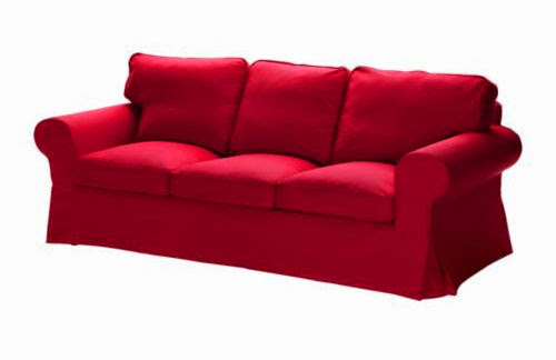 canap ektorp rouge - Canape Colore