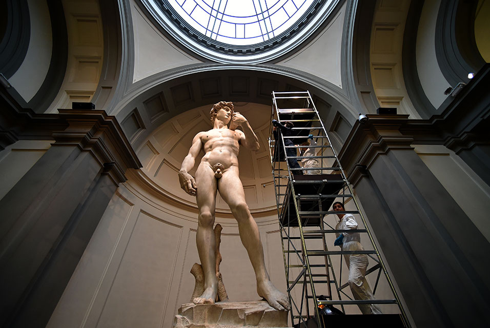 Italy: Michelangelo's David gets expensive clean-up