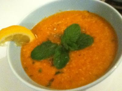 recettes  Soupe aux lentilles rouges à la Turque