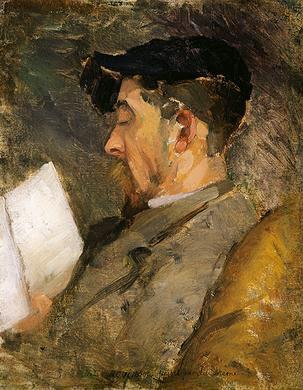 Theodore Robinson - Self portrait (c. 1884-1887)