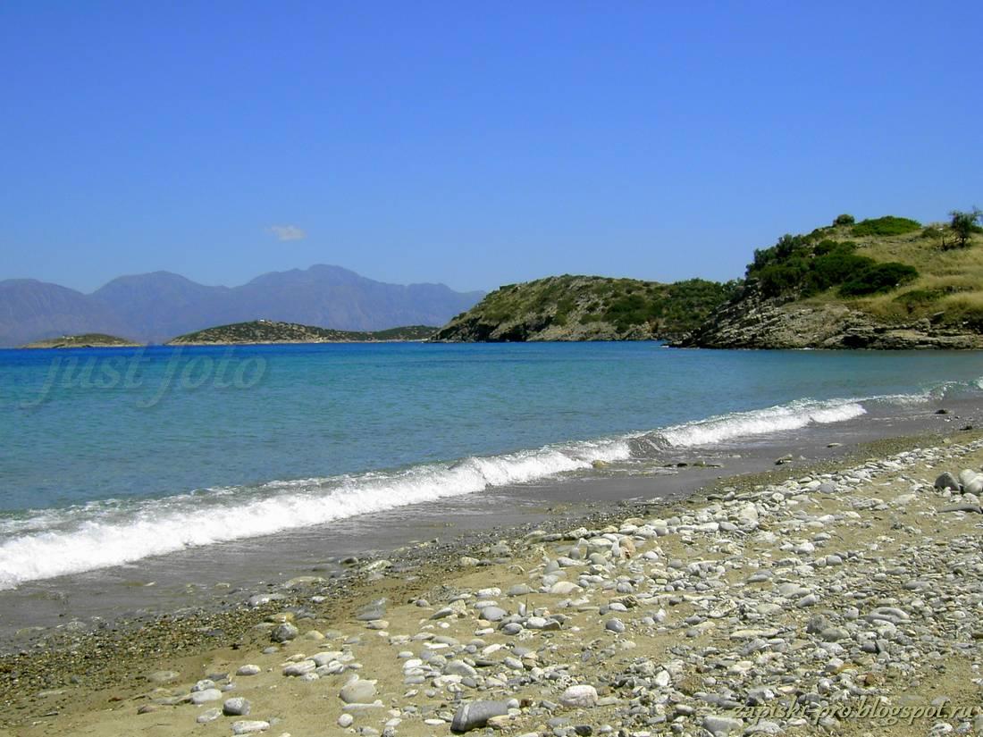 Пляжи Крита фото - залив Мирабелло