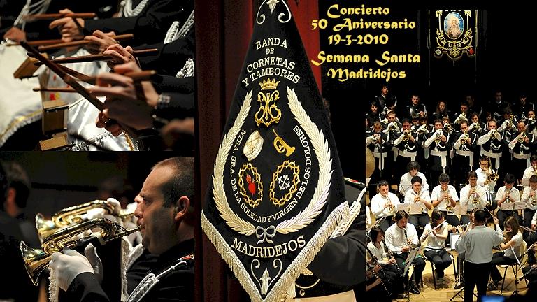 19-3-2010 Concierto 50 Aniversario Fundación de la Banda de Cornetas y Tambores, que estrena Banderín donado por Félix Ramiro