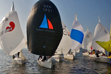 J/80 one-design sailboats- sailing Benelux regatta