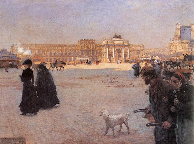 Giuseppe de Nittis - The Carrousel place and the ruins of Tuileries palace in 1882