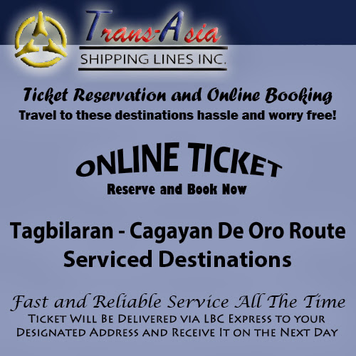 Trans-Asia Shipping Tagbilaran-Cagayan De Oro Route Ticket Reservation and Online Booking