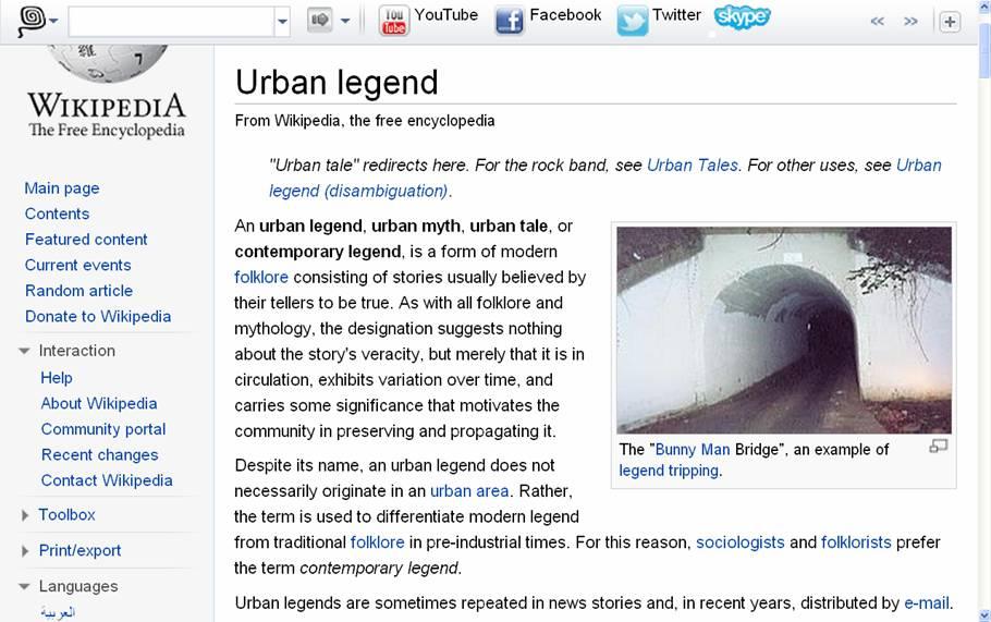 Urban Legends - Educopedia English
