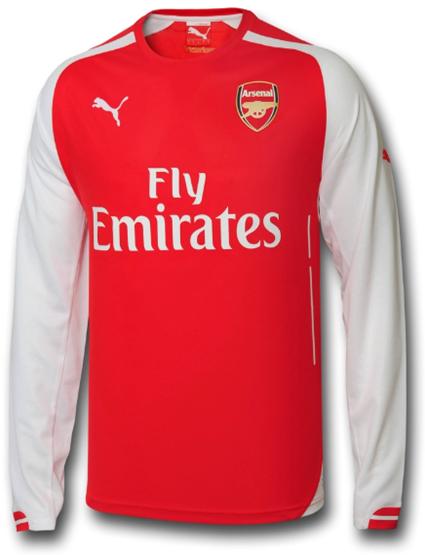 Jual Jersey Arsenal Home Lengan Panjang 2014-2015