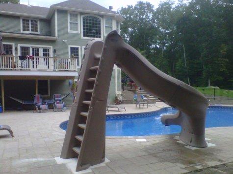 pool slide installation West Newbury MA
