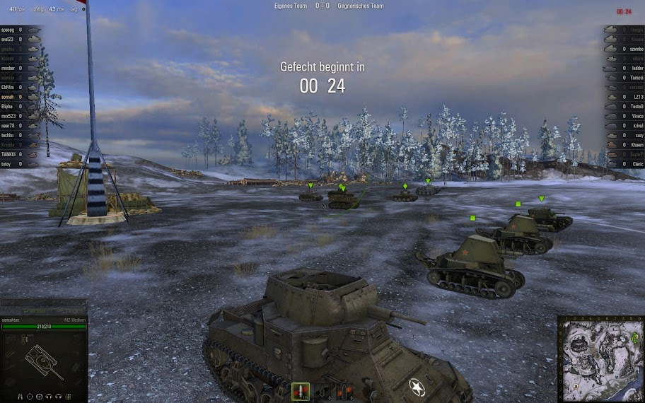 World of Tanks - Gameplay Screenshot / Winterszenario