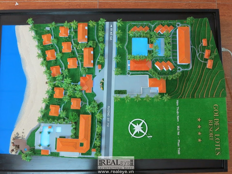 Mô hình kiến trúc REALEYE - Golden Lotus Resort