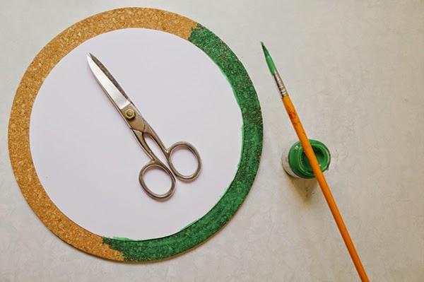 Fazer um círculo e pintar a base
