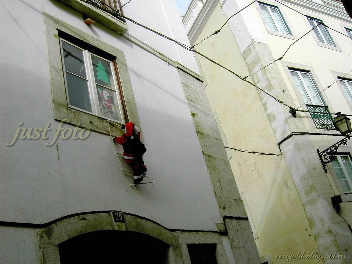 Алфама на Рождество Лиссабон фото