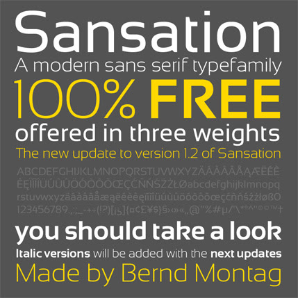 25+ Ultimate Collection of High Quality Free Fonts For Designers- Sansation