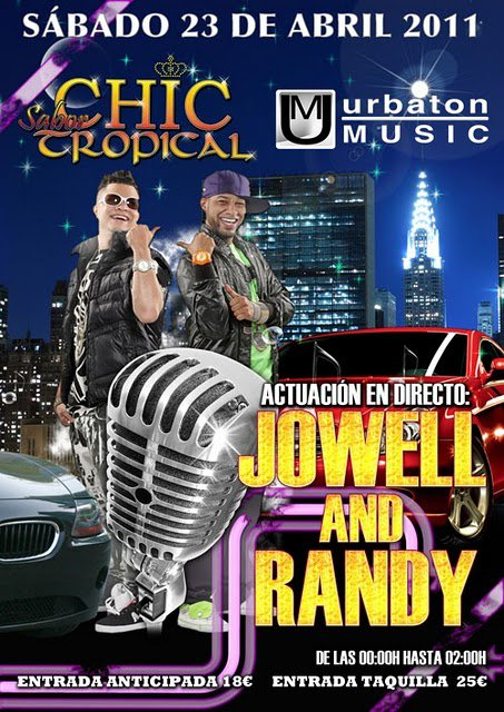 Jowell & Randy presentes en Chic Sabor Tropical, Lleida 2011
