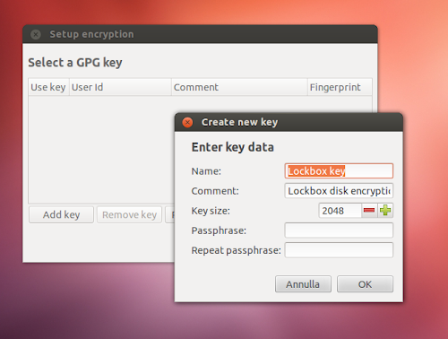 Lockbox su Ubuntu 12.04 - key
