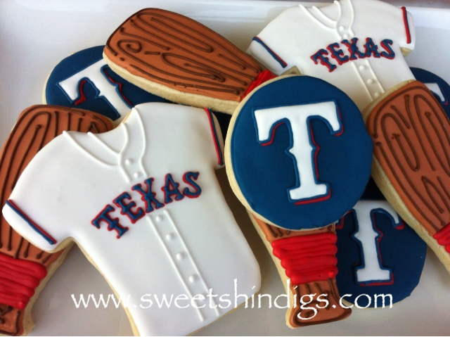 Texas Rangers Cookie Cake