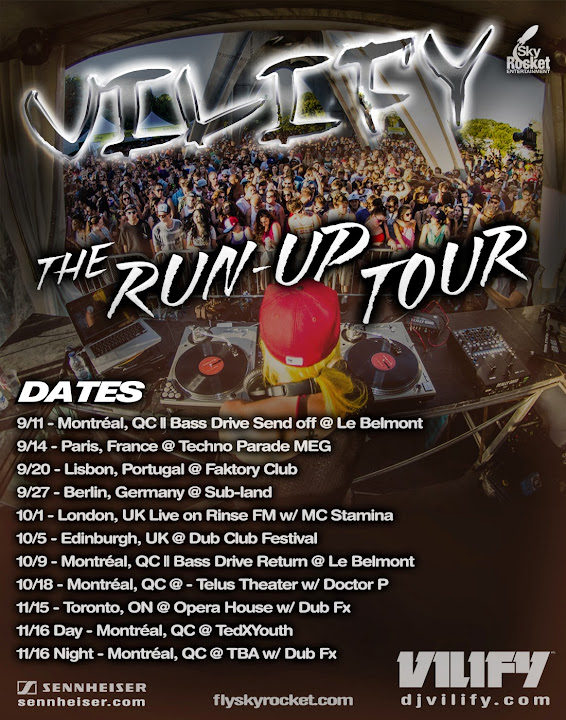 VILIFY Run Up Tour Dates Poster