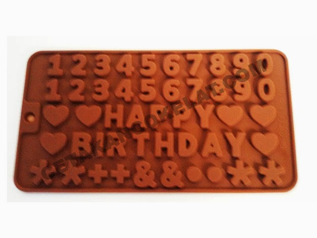 cetakan coklat happy birthday angka