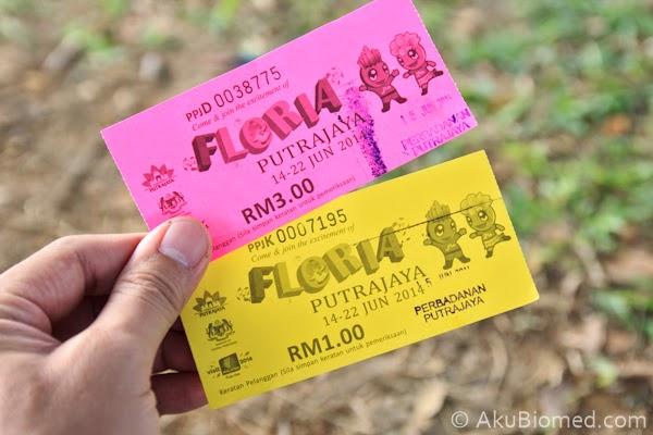 harga tiket floria putrajaya 2014