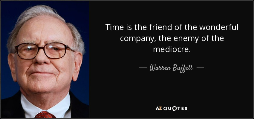 Citação de Warren Buffett. Tradução na legenda.