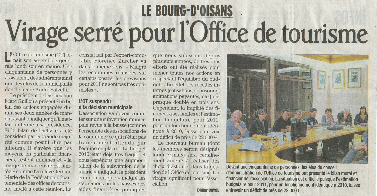 News de l 39 office de tourisme bourg d 39 oisans assemblee generale office de tourisme de bourg d - Bourg d oisans office tourisme ...