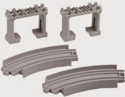 Sản phẩm R-27 bao gồm 2 đoạn ray cong và 2 trụ cầu