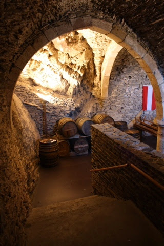 Castle cellar at Vianden, Luxembourg