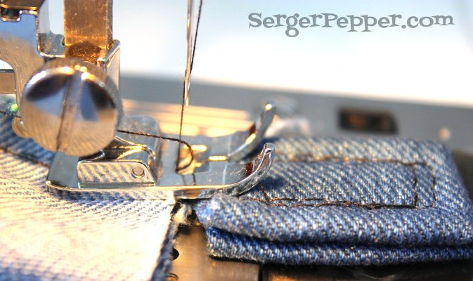 Serger Pepper - Sewing Denim like a Pro - Thick-y after