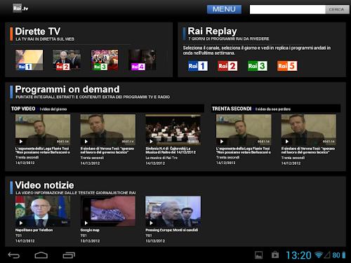 Rai TV per Android