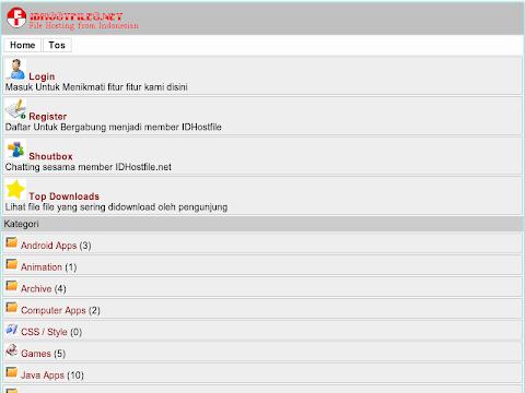 Screenshot Website www.idhostfiles