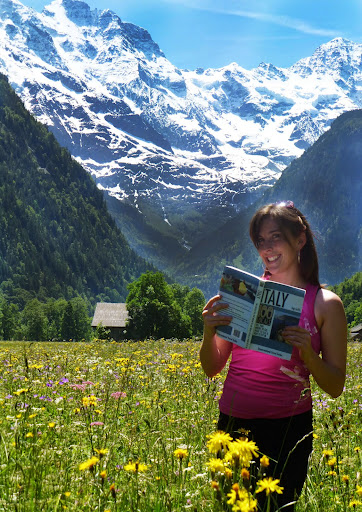 Author Gigi Griffis, and her book, Italy: 100 Locals Tell You Where to Go, What to Eat, and How to Fit In