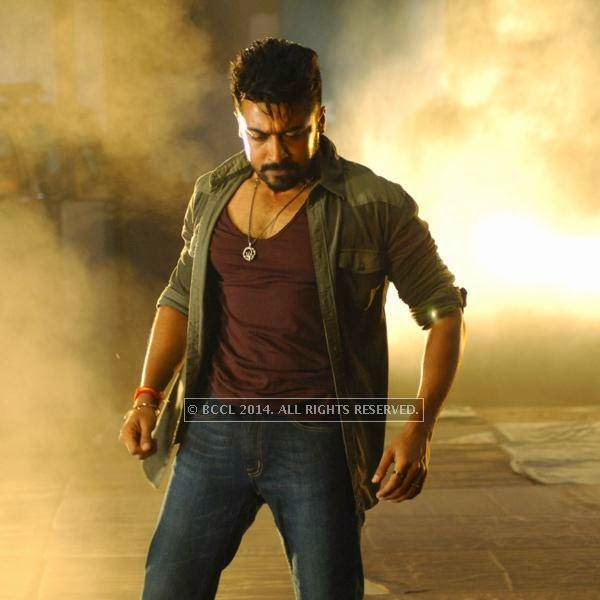 Suriya in a still from the movie, Anjaan.