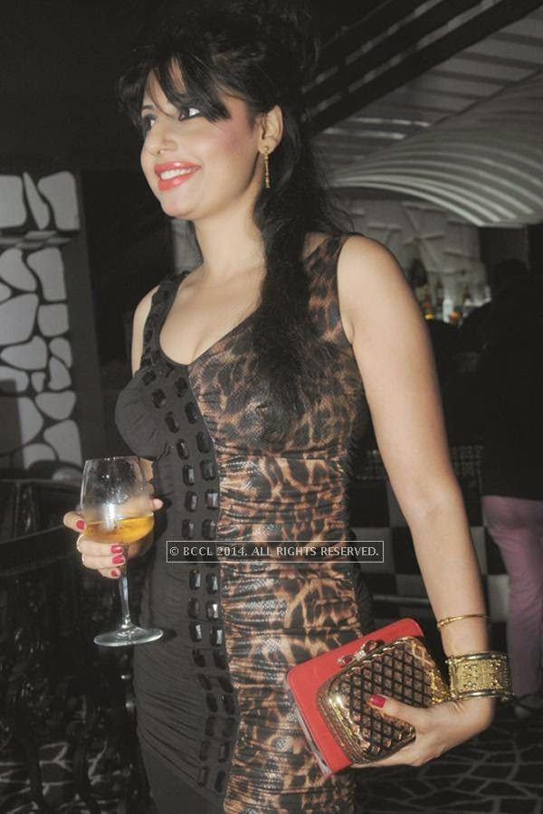 Salloli during the party, held at BW club, New Friends Colony.