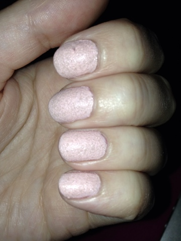 Roxy's Box of Tricks's Nails with the pink Barry M textures Kingsland Road looking dirty