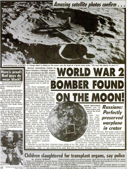 Pesawat Bomber PDII Ditemukan di Bulan? HOAX 100%