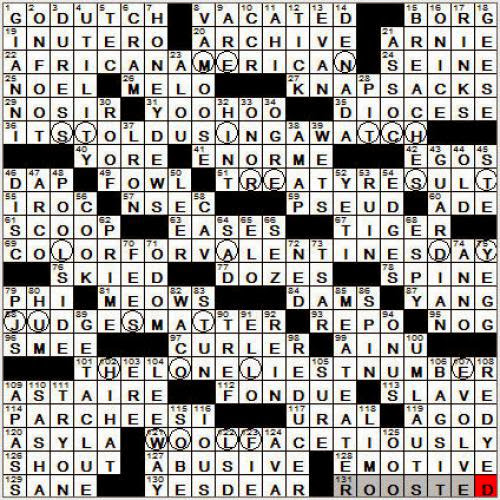 0408 12 New York Times Crossword Answers 8 Apr 12 Sunday