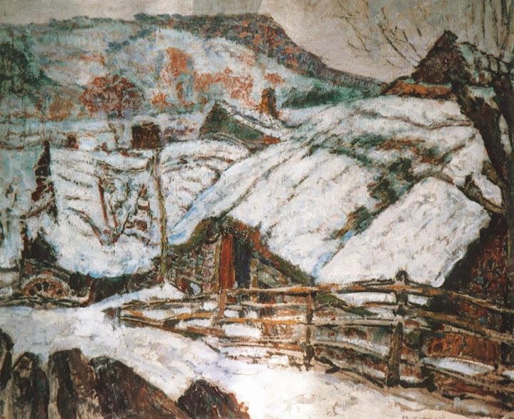Victor Charreton - Chaumière sous la neige