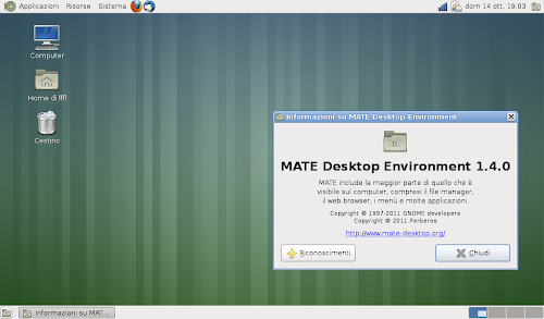 Mate Desktop Environment su Ubuntu 12.10 Quantal