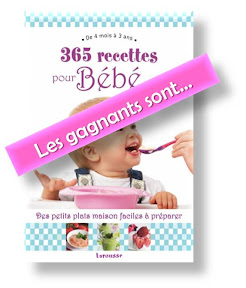 jeu concours gagnants livre recette bébé