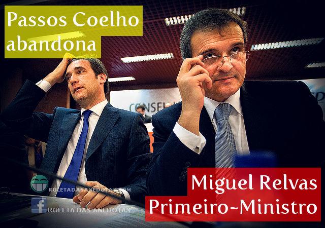 Passos Coelho demite-se, Miguel Relvas nomeado Primeiro-Ministro