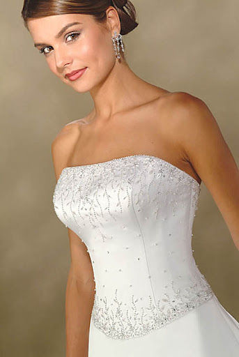 Liebsten Perlen Brautkleid - Brautkleider