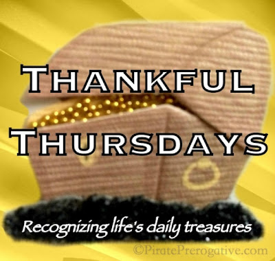 Thankful Thursdays. Recognizing Life's Daily Treasures.