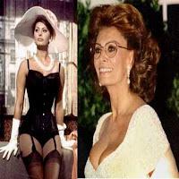 Sophia Loren, ontem e hoje.