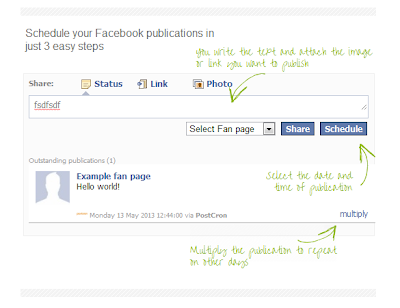 Schedule Your Facebook Updates With Postcron