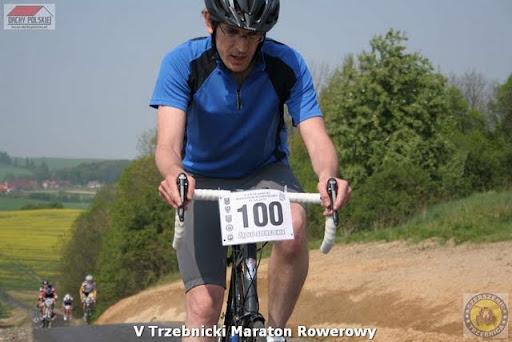 Michał Szczęsny podczas V Trzebnickiego Maratonu Rowerowego