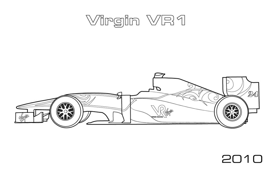 Kleurplaat Formule 1 Red Bull 2017 Modern F1 Cars Car Coloring Pages