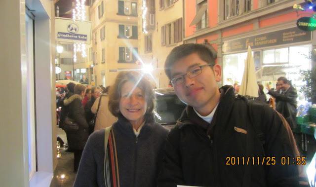 這位是熱心向我們解釋活動由來的瑞士老太太!